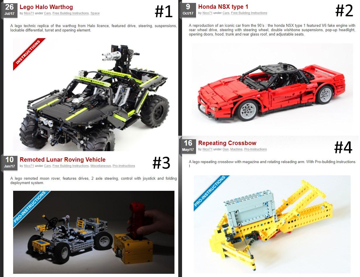 Retrospective 2017 10 Years Of Lego Nico71s Creations
